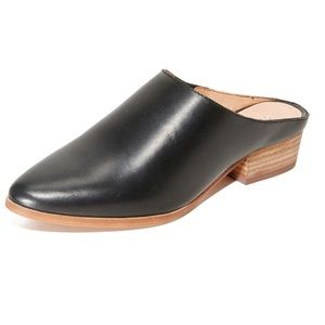 Madewell | Black Leather Barlow Mules | 6